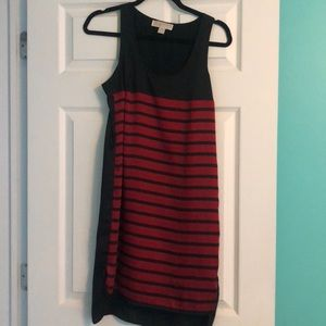 Michael Kors high low red navy dress Small
